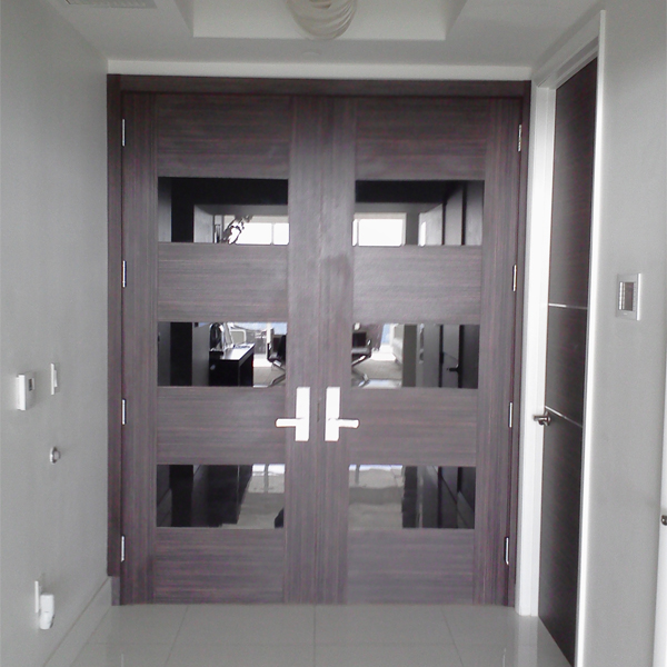 Dayoris doors modern designer entry door aventura custom wooden flush doors south florida - Modern exterior double doors ...