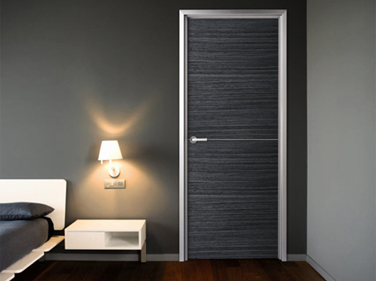 Modern interior doors with aluminum frames for residential for Modern interior doors