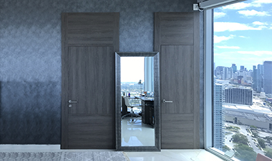 ... Dayoris Flush Frameless Door With Casing