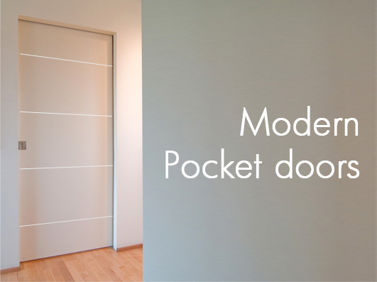Modern Pocket Doors on green interior design