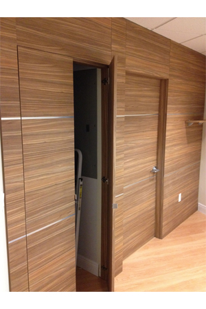 hidden door in wall panel dayoris doors abbo dentistry designer wall panels 7028